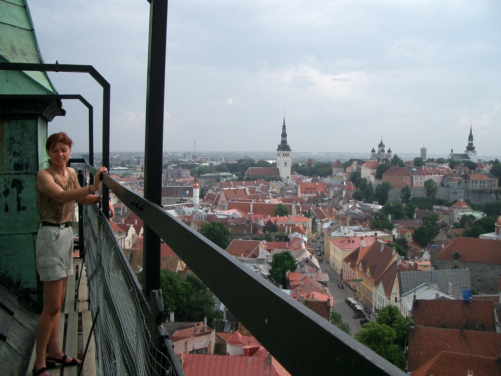 Blick auf die Unterstadt Tallin's