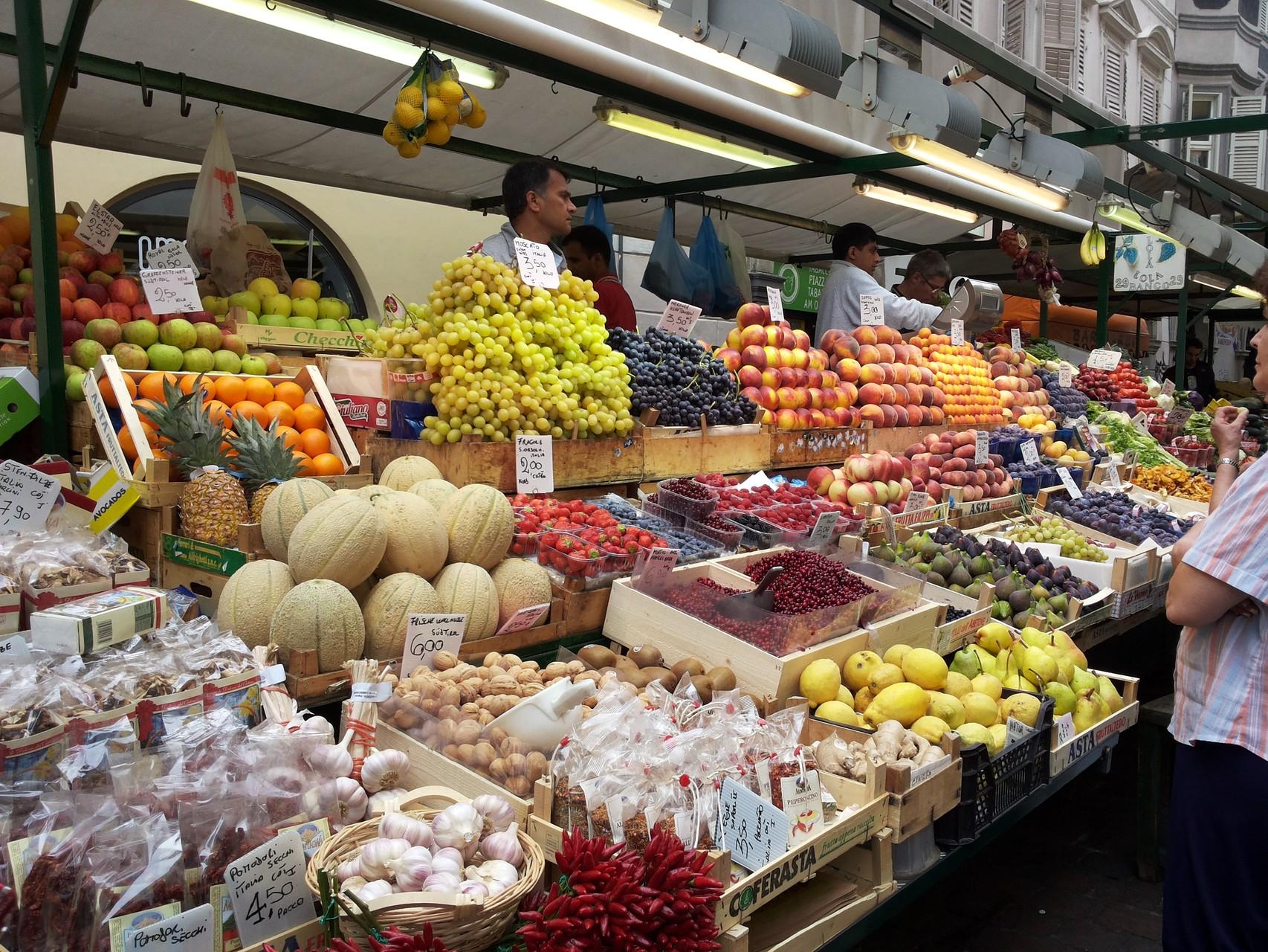 auf dem Markt in Bozen