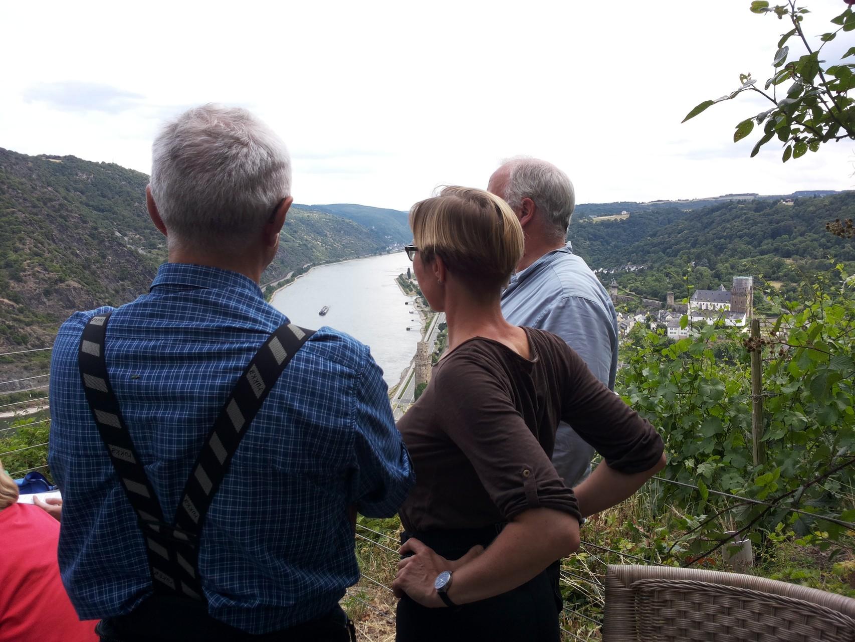 über Oberwesel - mit Bick auf den Rhein