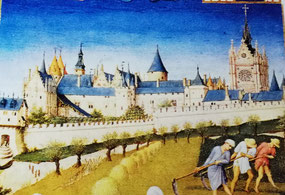 L'ile de la Cité au temps des riches heures du duc de Berry