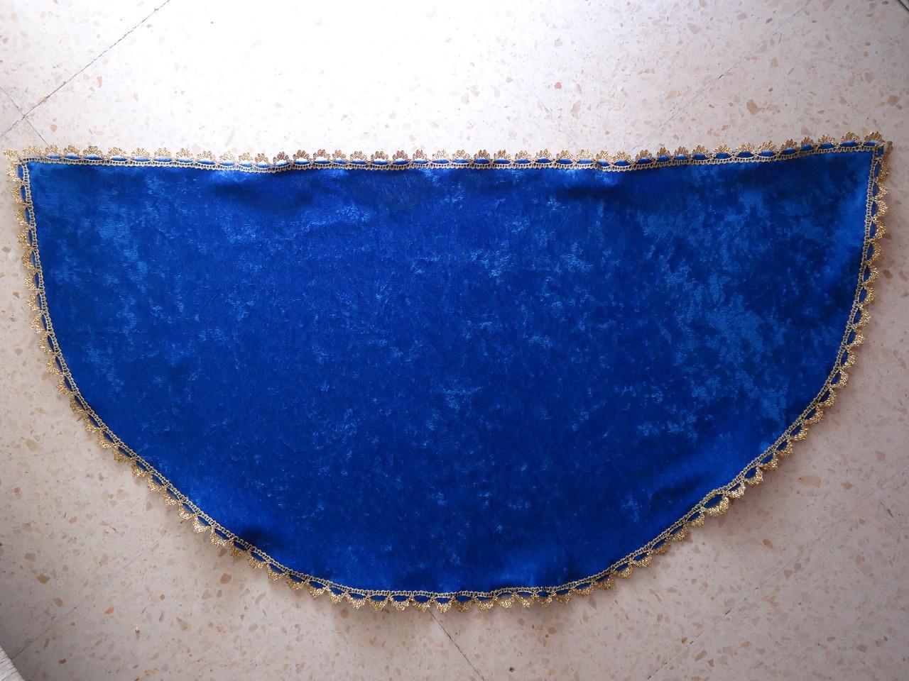 Manto terciopelo azul