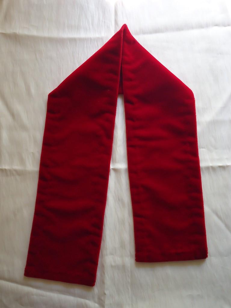 Mantolín liso rojo