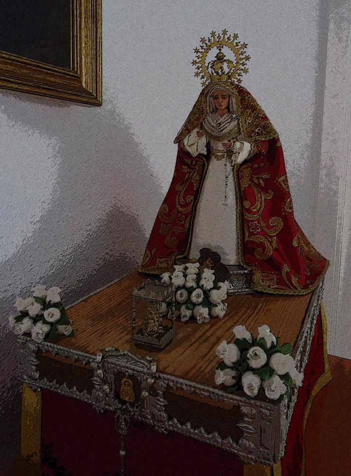 sitio web Virgen trabajo de mano en Burgos