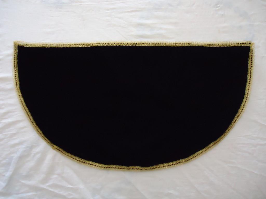 Manto terciopelo negro 1
