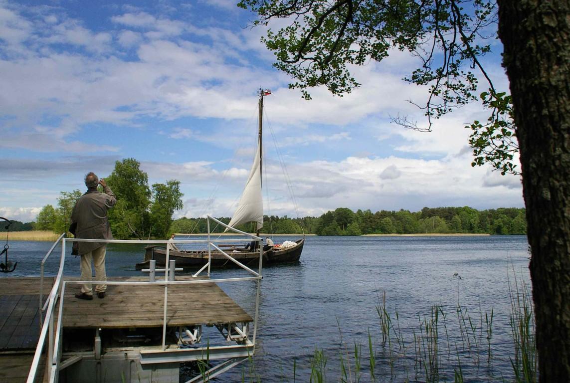 Nach der Segeltour um die Burg Trakai