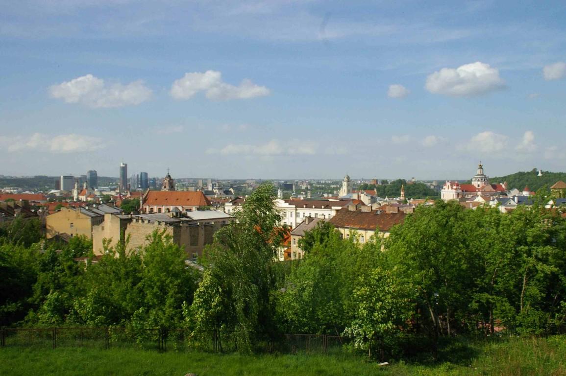 Blick auf die Barockstadt Vilnius