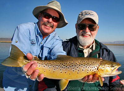 Bill Stroud with guide Tom Loe of Sierra Drifters Guide Service