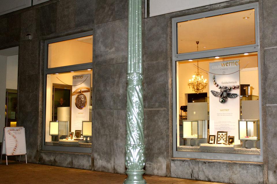 Goldschmiede in Augsburg an der Maximilianstraße