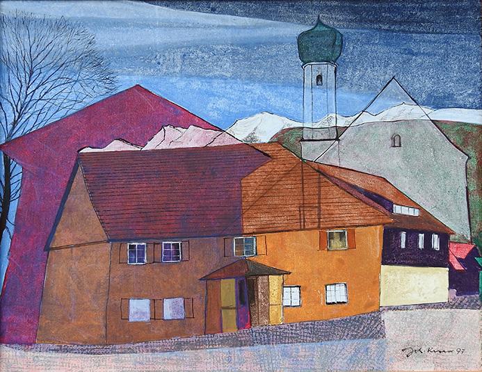 Johann Keller, Oberreute- Dorfplatzensemble, 1997