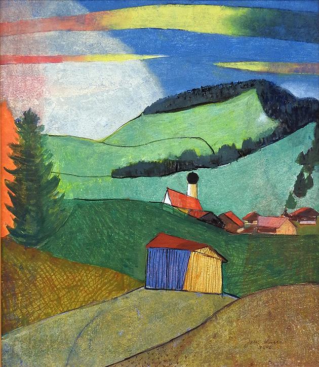 Johann Keller, Dorf Schöllang um 1980, 2006