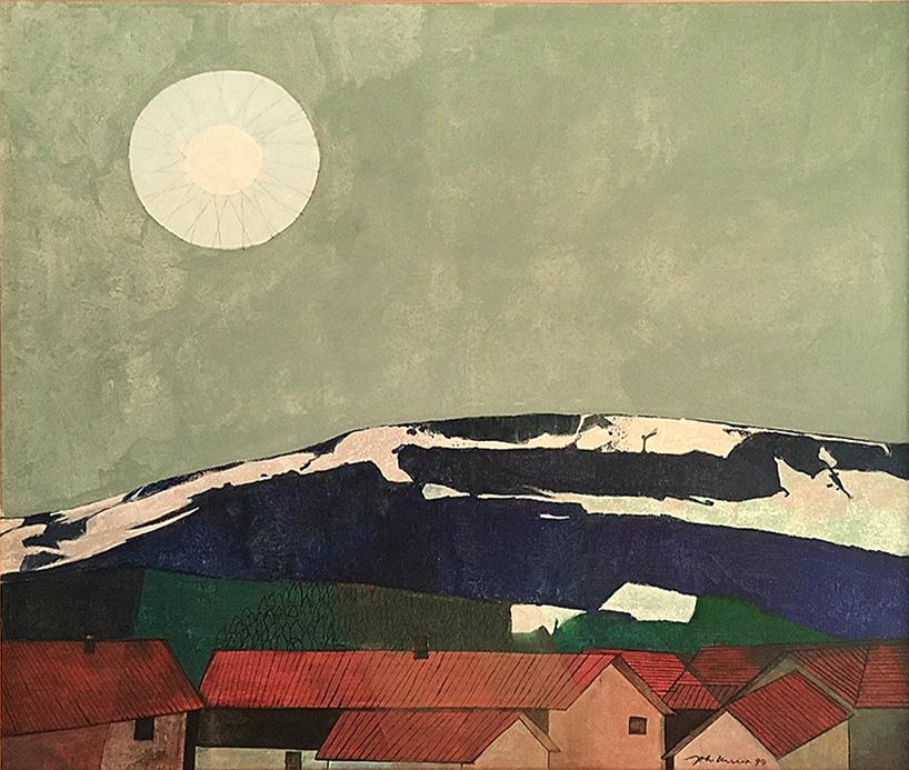 Johann Keller, Sonne über den Dächern, 1999