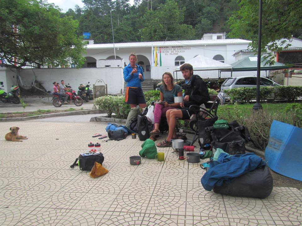 Camping dans un parc public