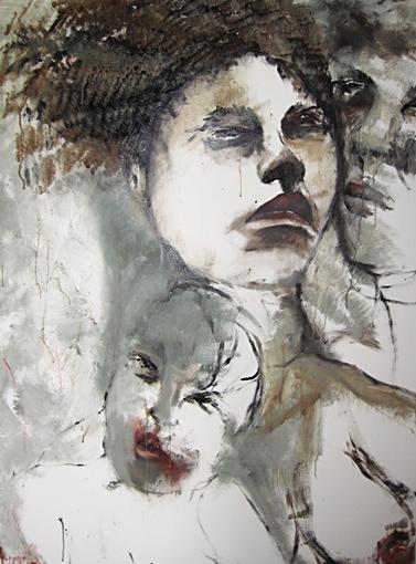 FAMILIE, 2010. 120/80cm, Öl auf Leinwand