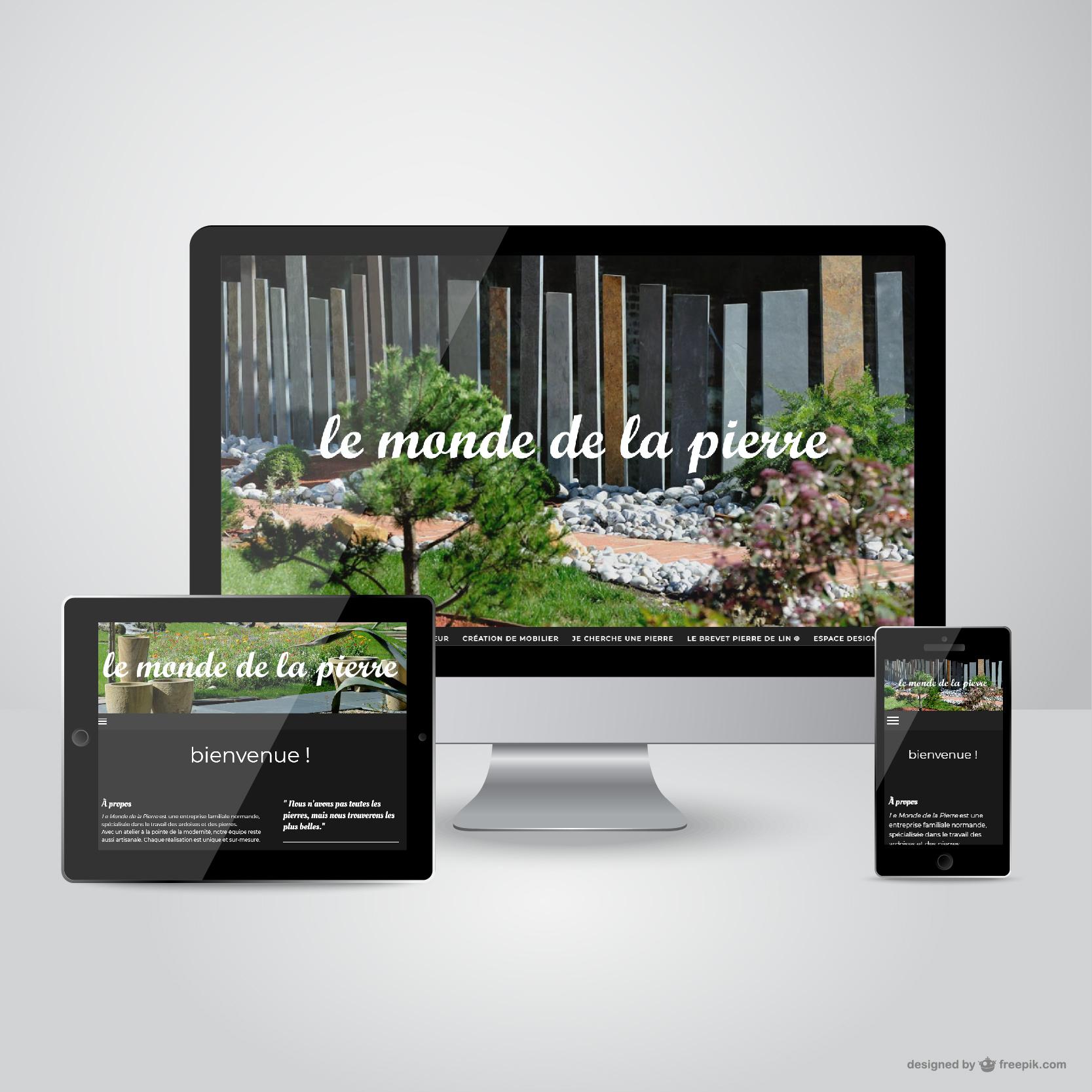Le Monde de la Pierre (création du site internet et administration)