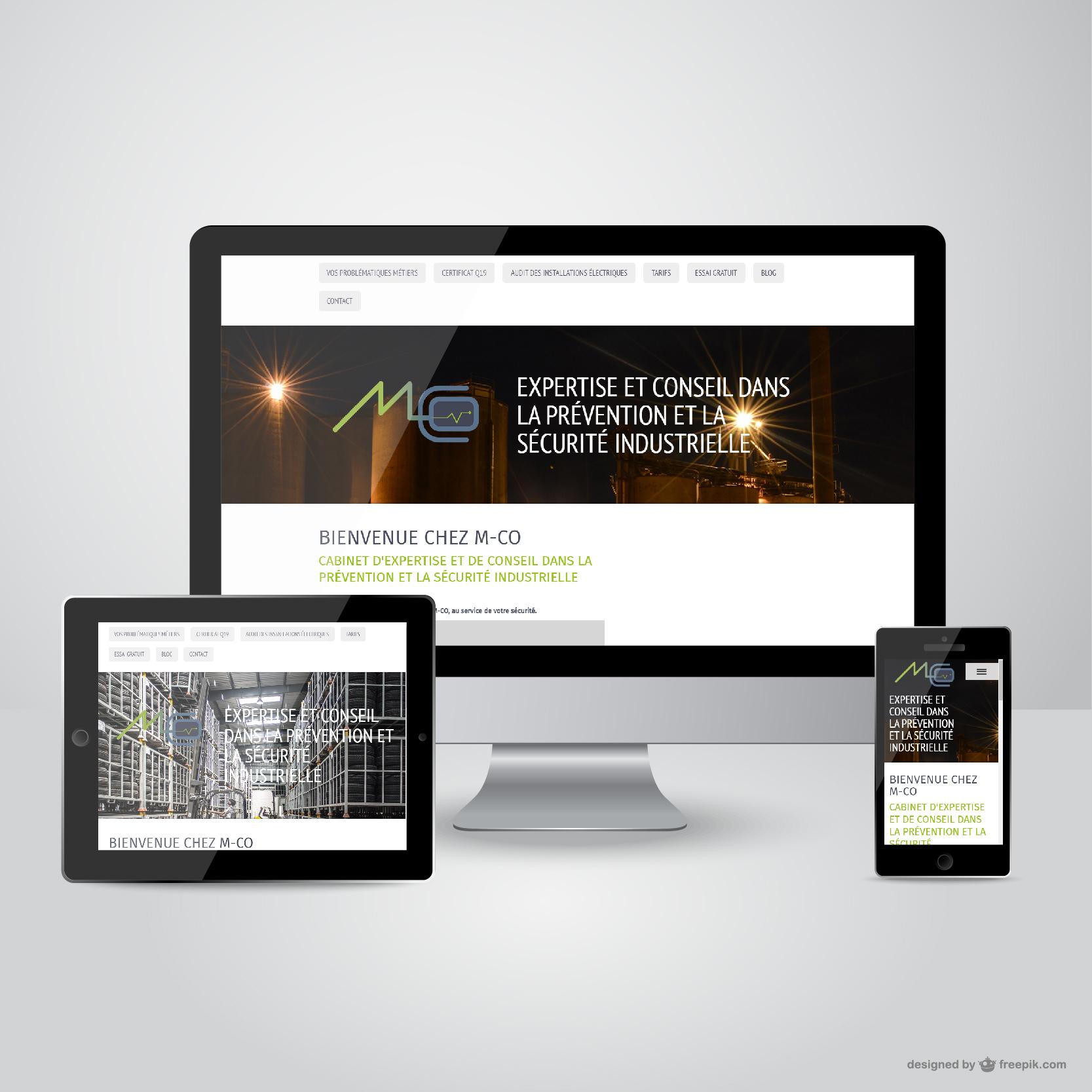 M-CO Cabinet de contrôle électrique (création du site internet et administration)