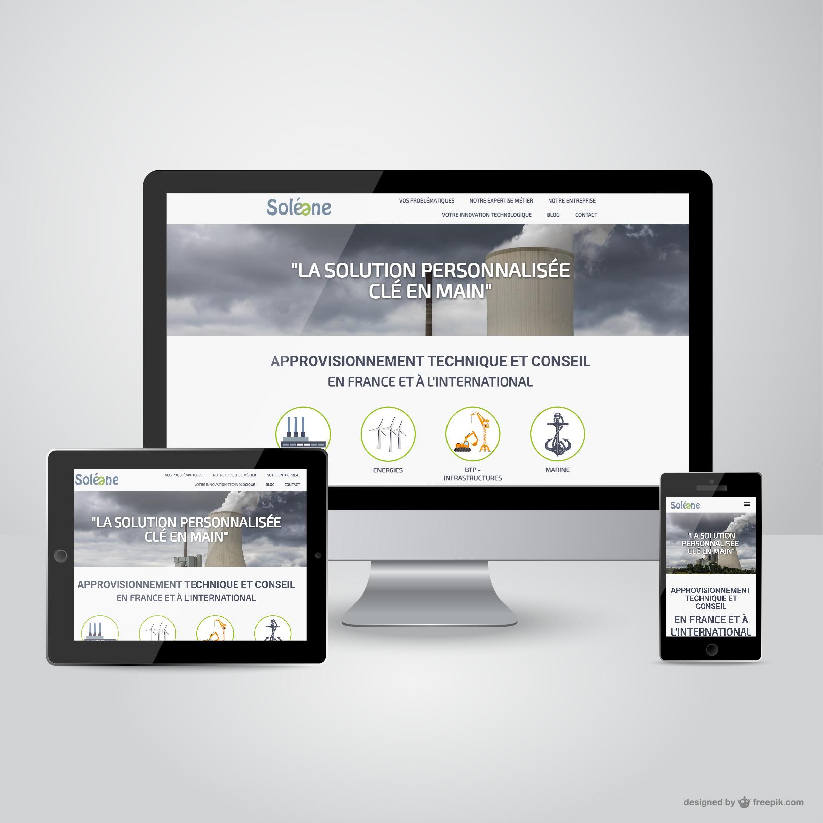 Soléane 76  (création du site internet et administration)