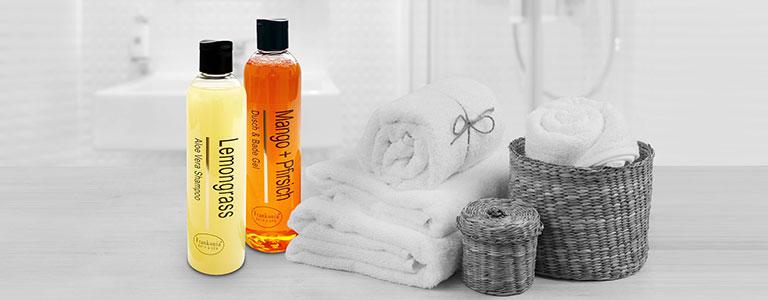 Aloe Vera Shampoo & Duschgel mit Mandelöl in verschiedenen Duftrichtungen