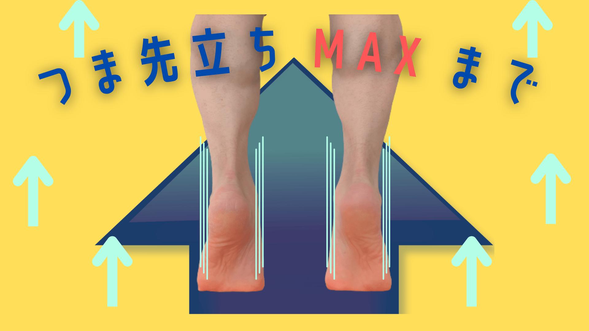 足首安定のためのつま先立ちエクササイズ