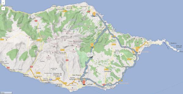 Madeiras Ostteil