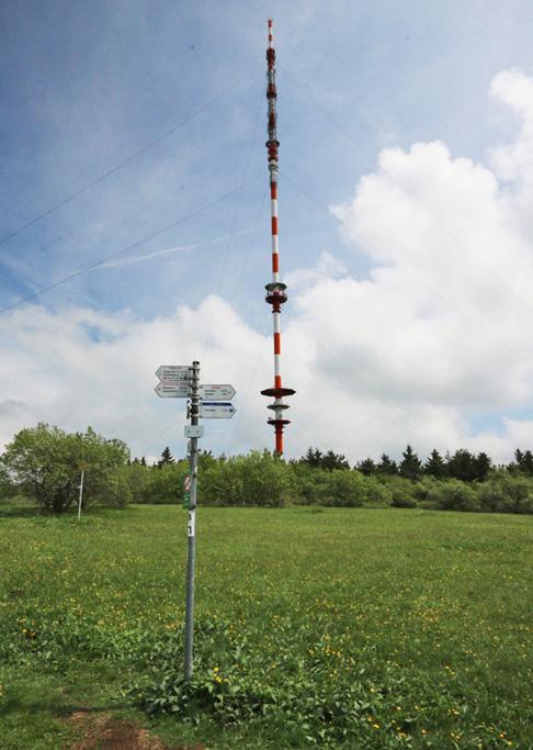 Heidelsteinplateau mit dem Sender Heidelstein.