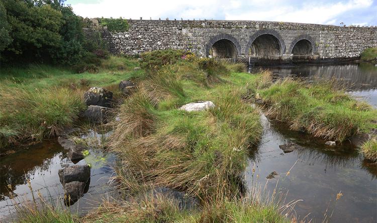 Und noch eine der so harmonisch in die Landschaft eingepassten Brücken.