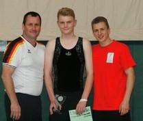 von links: Olaf als Bundestrainer; Nils mit DM-Quali für 2012 und Daniel als einziger WM-Qualifikant auf dem DMT