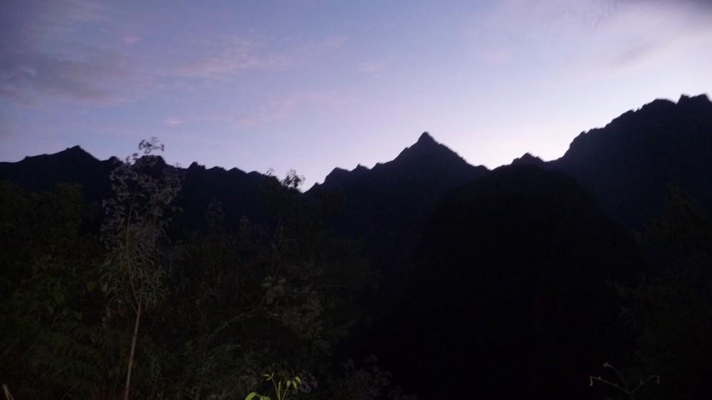Early morning hike sunrise