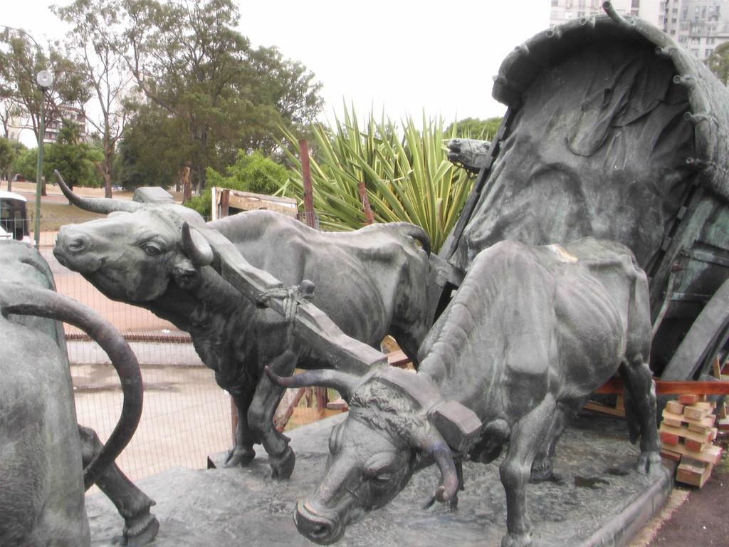 Montevideo/Uruguay - Denkmal für die ersten Siedler