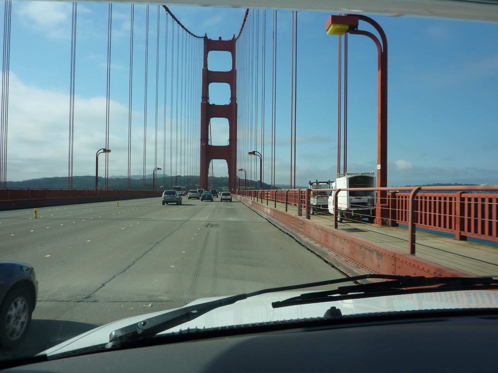 Auf Tour von San Francisco nach Big Basin State Park - über die Golden Gate Bridge
