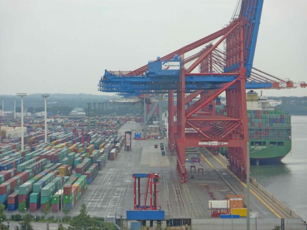 1. Tag - Hamburg - Containerhafen, Köhlbrandbrücke