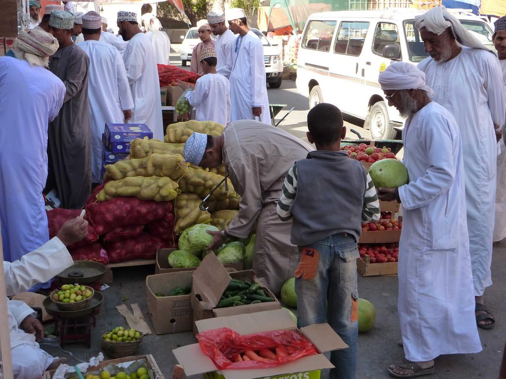 3. Tag - Nizwa / Vieh- Obst- u. Fischmarkt