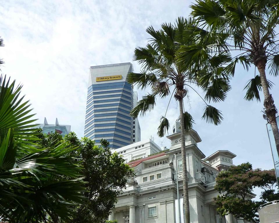 Singapur - Merlion, May Bank