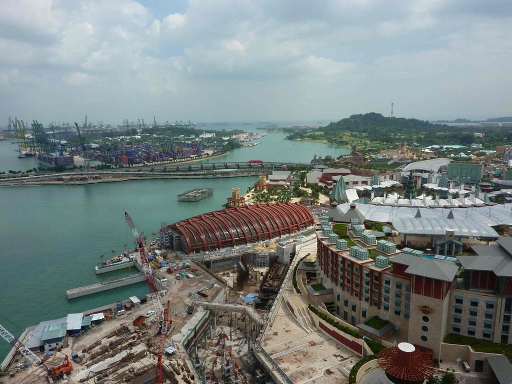 Singapur - mit der Seilbahn zur Insel Sentosa