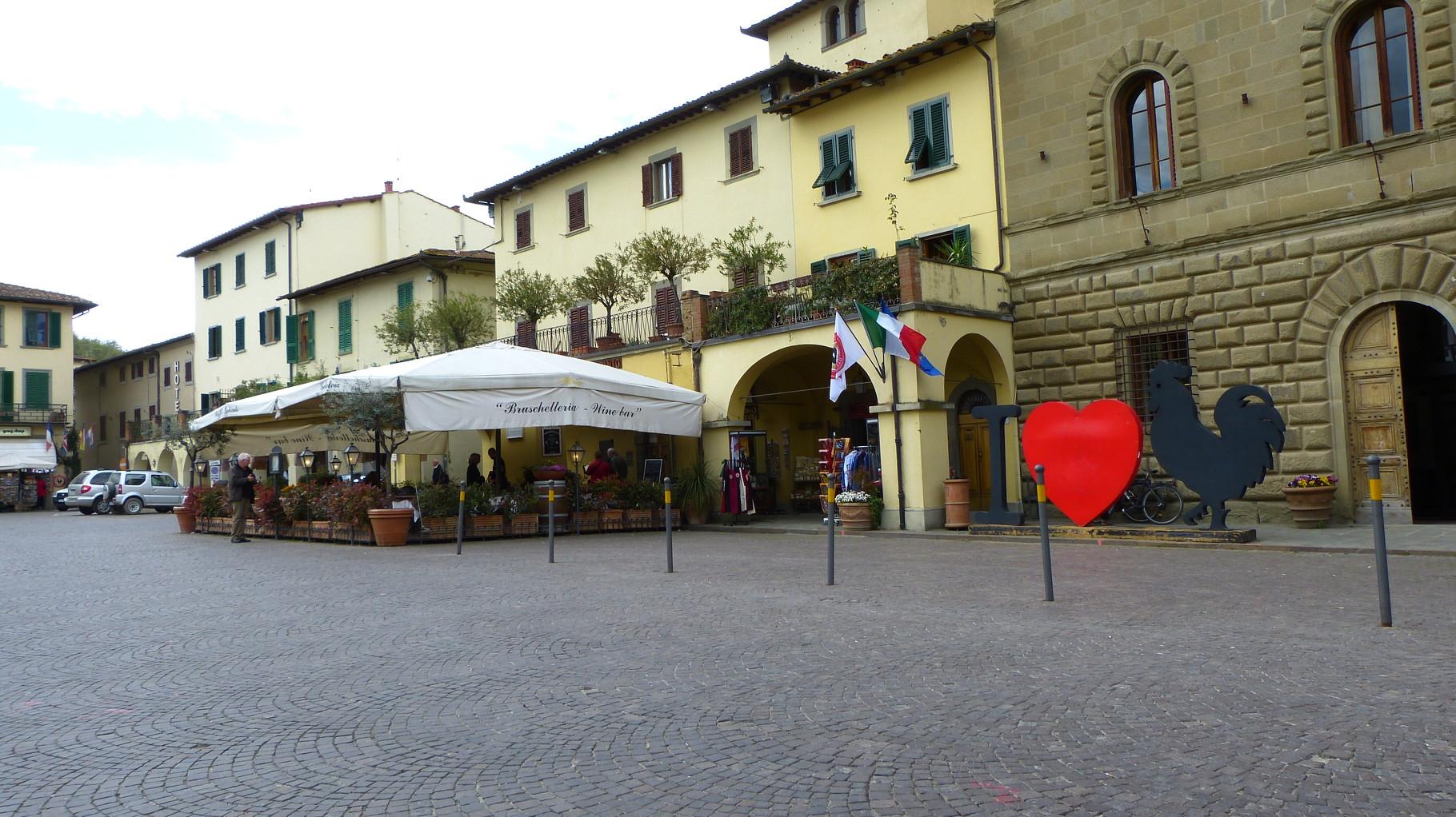 Mittagsrast in Greve in Chianti
