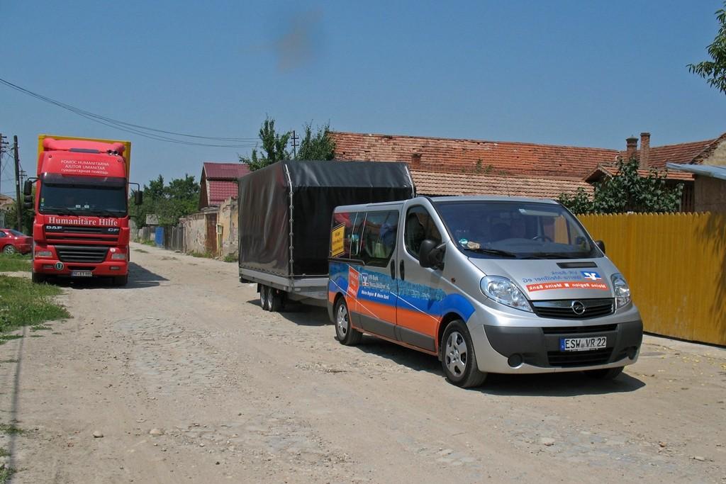 07.0702015 Um 11:50 Uhr Ankunft im Kinderheim Ocna Mures bei Sibiu