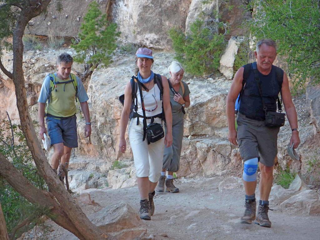 Grand Canyon - Wanderung auf dem  South Kaibab Trail - Aufstieg geschafft!