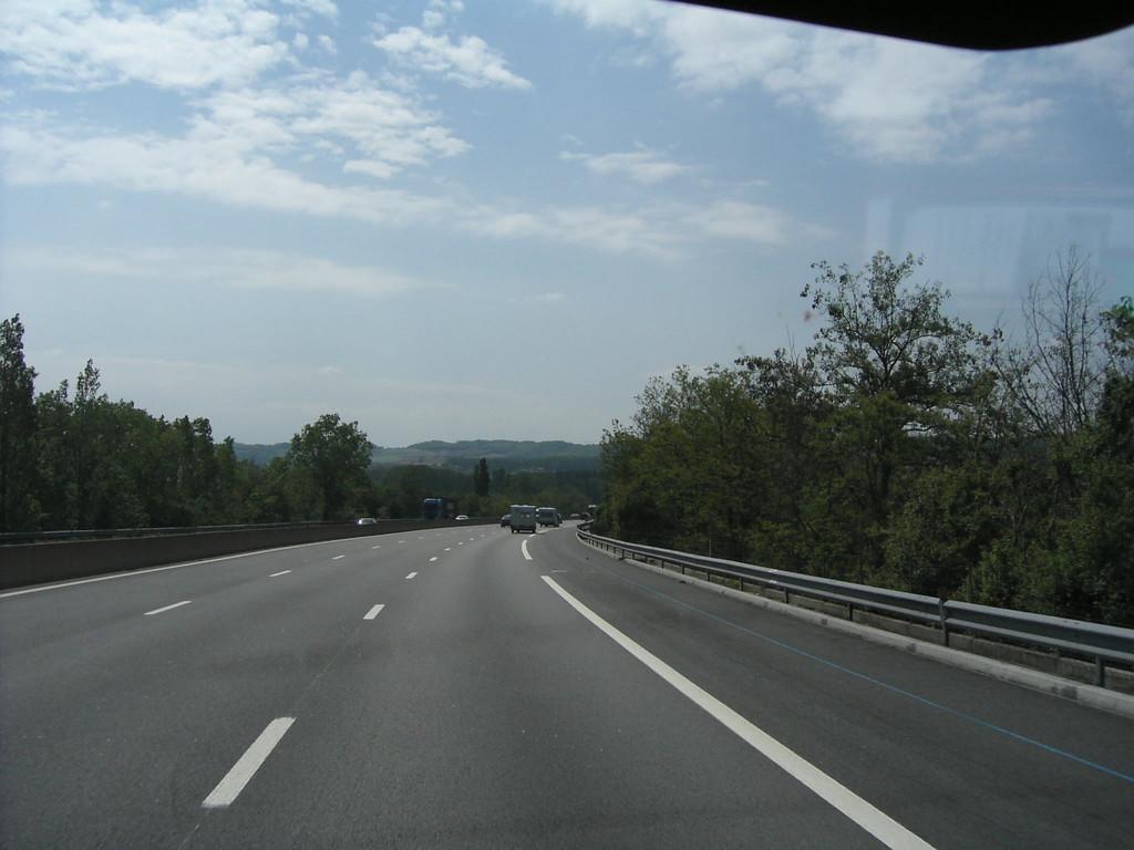 Auf der Fahrt nach Perpignon/F