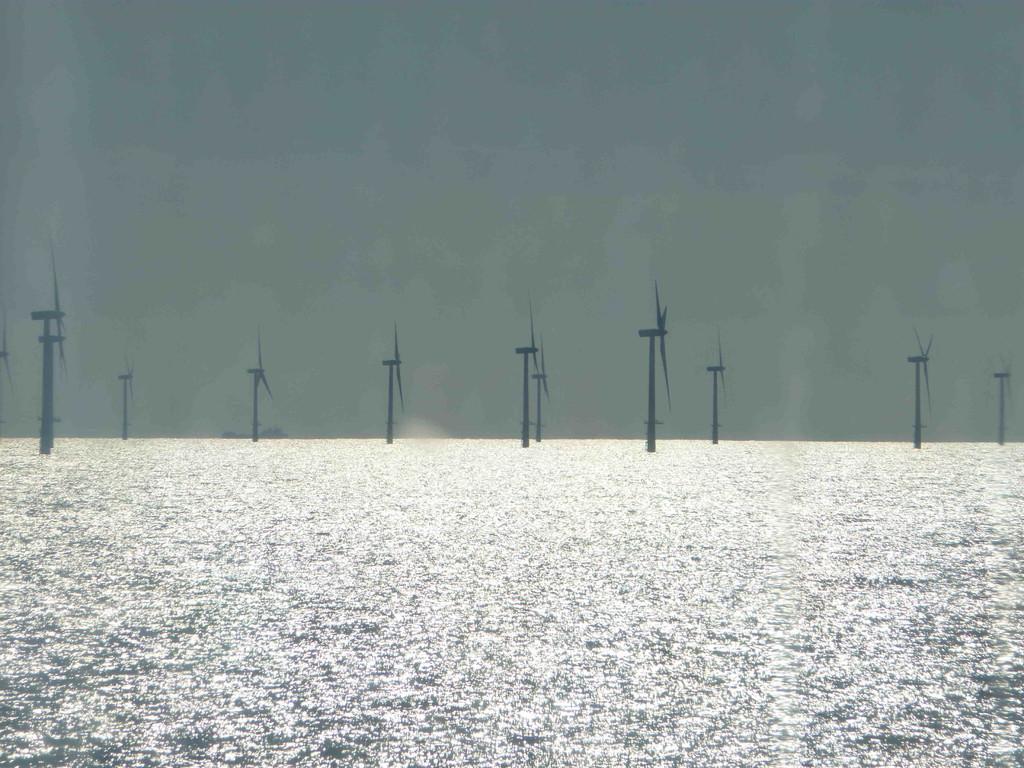 Holländischer Windpark im Meer