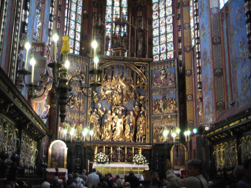 4.9.2007 Stadtführung Krakau - Marienkirche