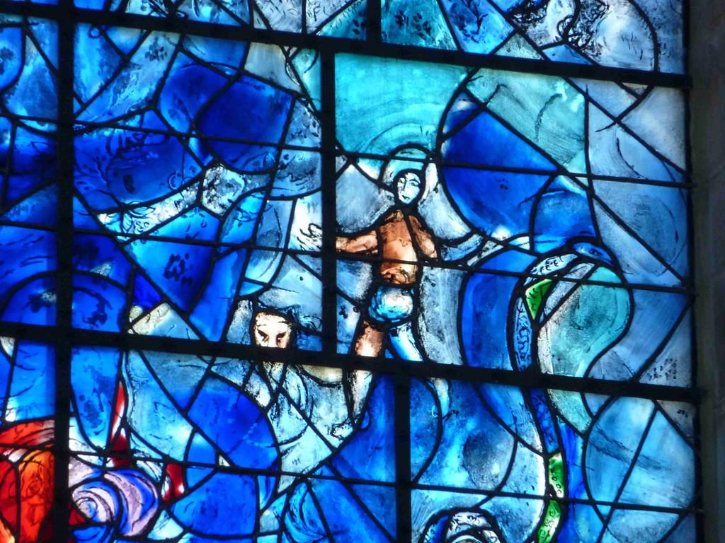 6.9.2010 Sarrebourg/F Chapelle des Cordelliers mit Glasfenster von Marc Chagall
