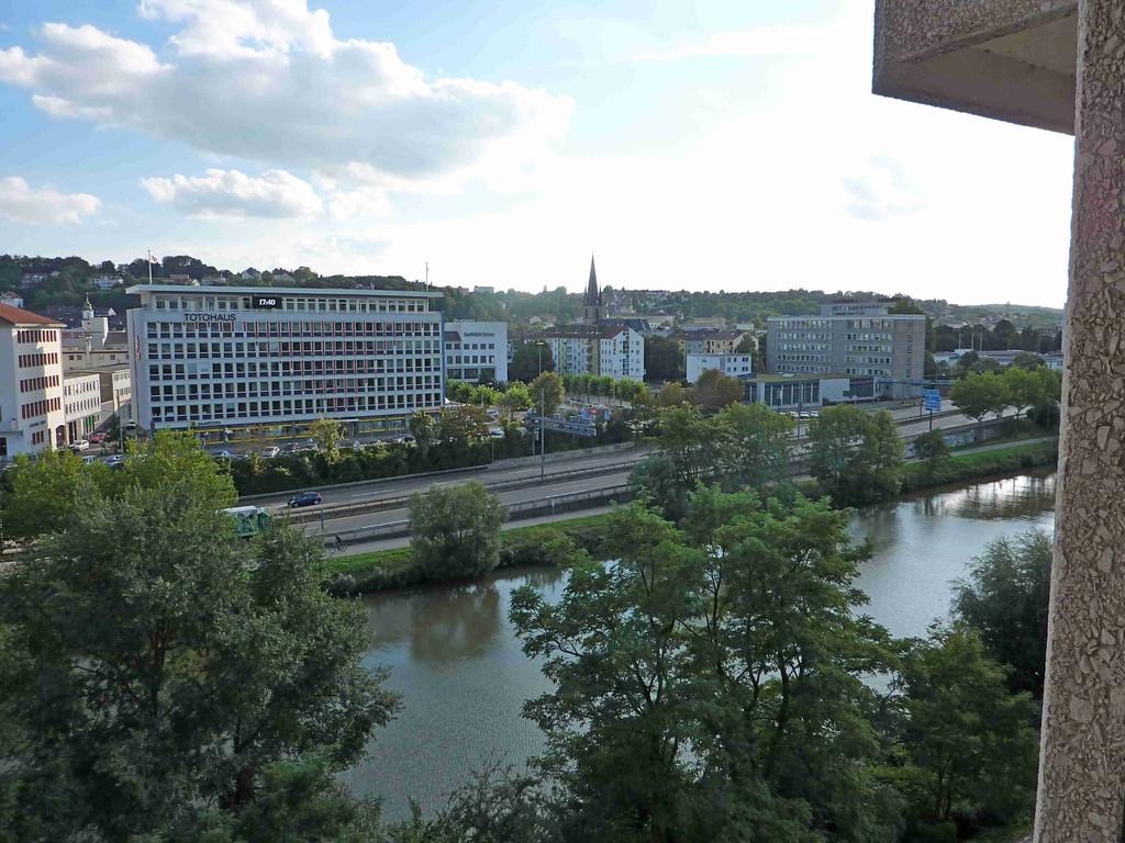 5.9.2010 Blick aus Hotel in Saarbrücken