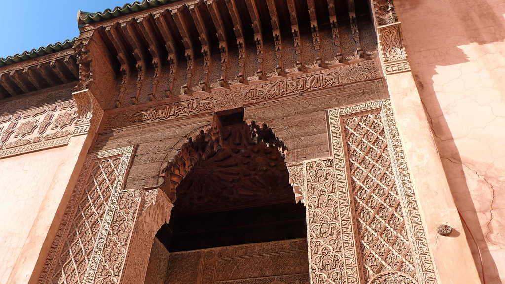 9.Tag - Marrakesch - Innenhaof bei den Saadiergräbern
