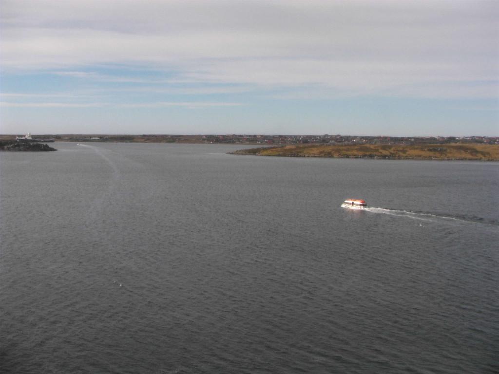 Stop Falklandinseln - Tenderboot nach Port Stanley