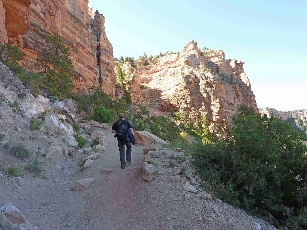 Grand Canyon - Wanderung auf dem  South Kaibab Trail - Aufstieg