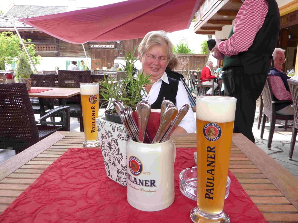 Erfrischung in Garmisch