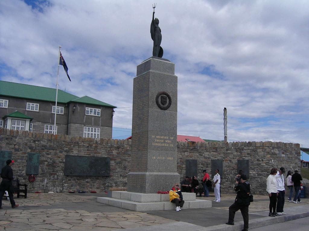 Stop Falklandinseln - Liberation Memorial-Denkmal v. 1982