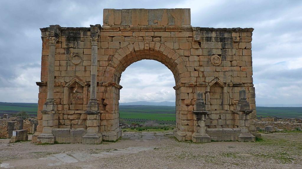 3.Tag Volubilis - Caracalla Bogen