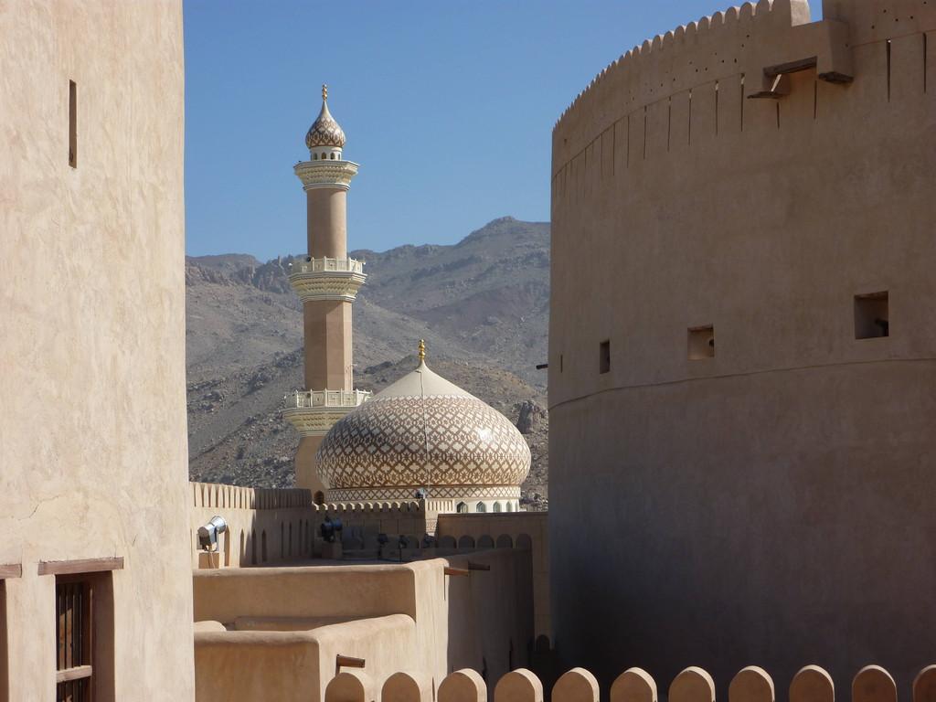 3. Tag - Nizwa / Fort - Blick auf Moschee