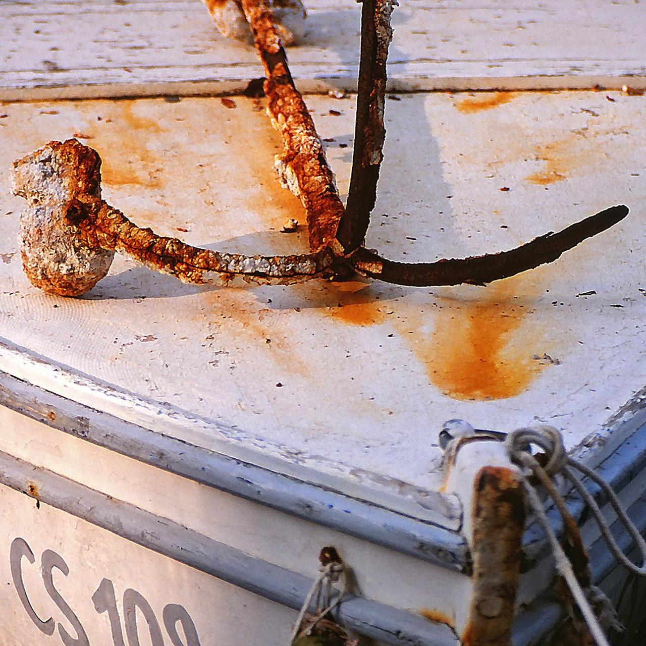 Boot im Hafen von Cres, Kroatien, 1997