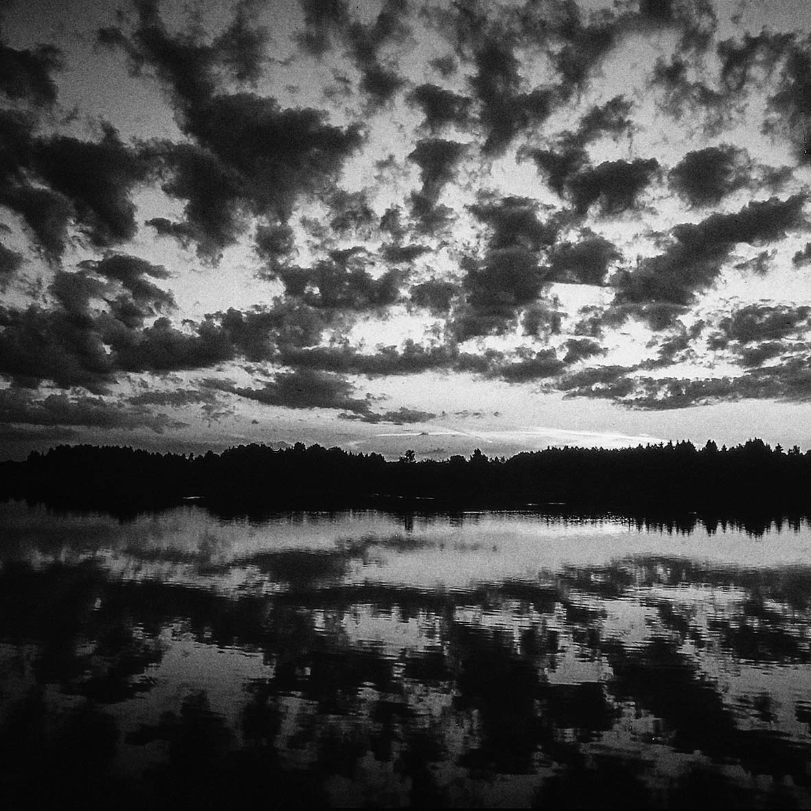 Sonnenuntergang mit Wolken, Teichwanderweg Waldreichs/NÖ